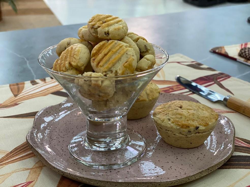 Aprenda a fazer Biscoitinhos de Cebola — Foto: Dani Meira/TV Globo