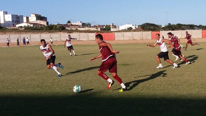 RN - jogo-treino América-RN x Santa Cruz de Natal (Foto: Canindé Pereira/Divulgação)