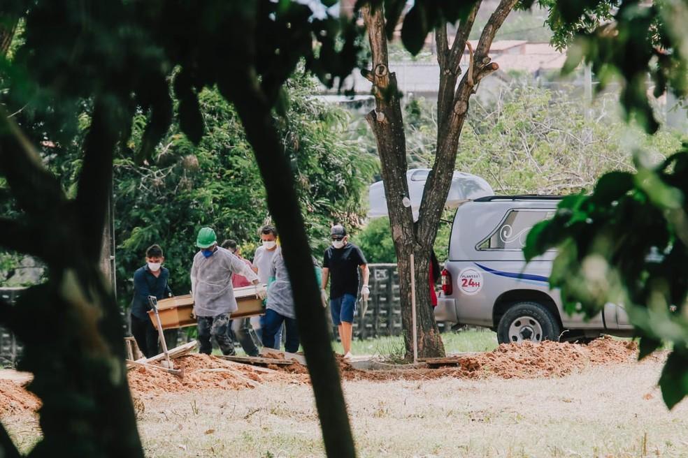 O Ceará soma três mil óbitos por Covid-19 confirmados desde o início da pandemia. — Foto: José Leomar/SVM