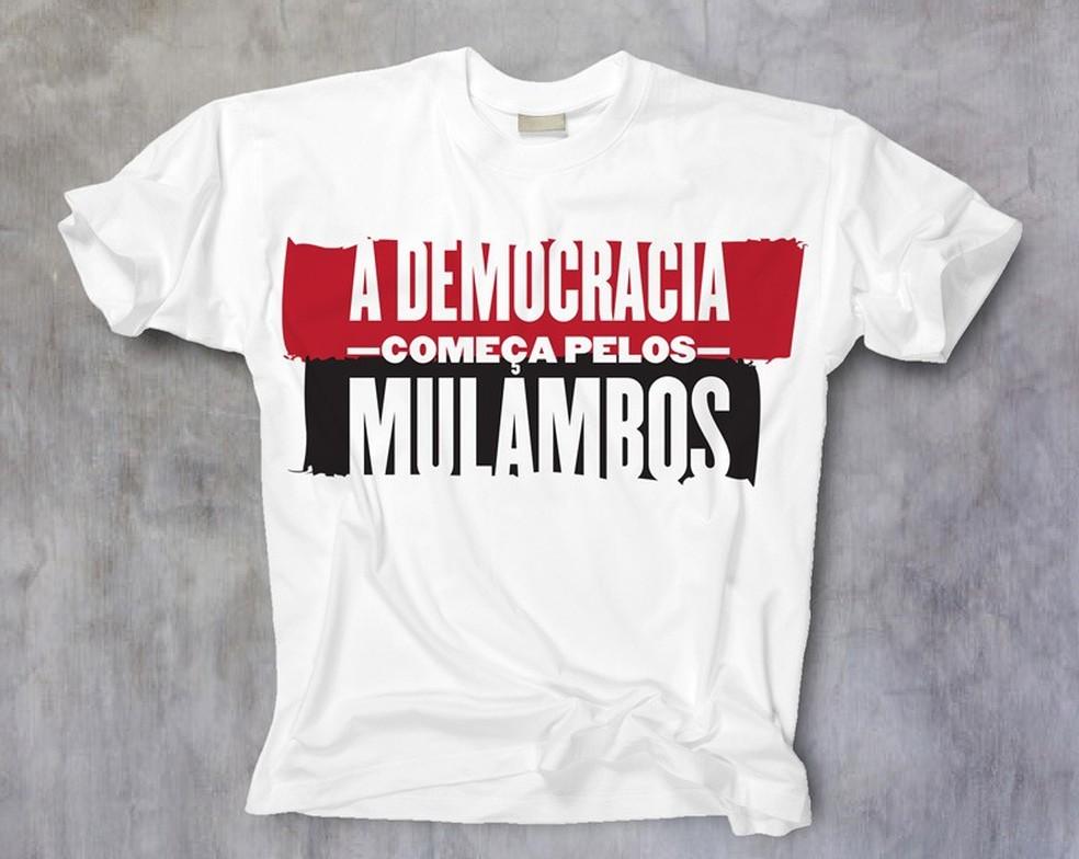 Camisa que será vendida para arrecadar fundos por nova homenagem lançada nesta sexta — Foto: Divulgação