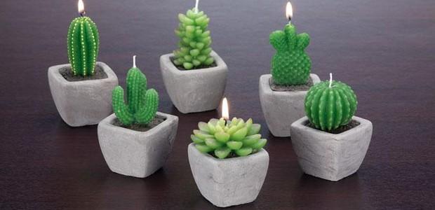 Lembrancinhas com plantas: Mini velas (Foto: Marmair/Reprodução)