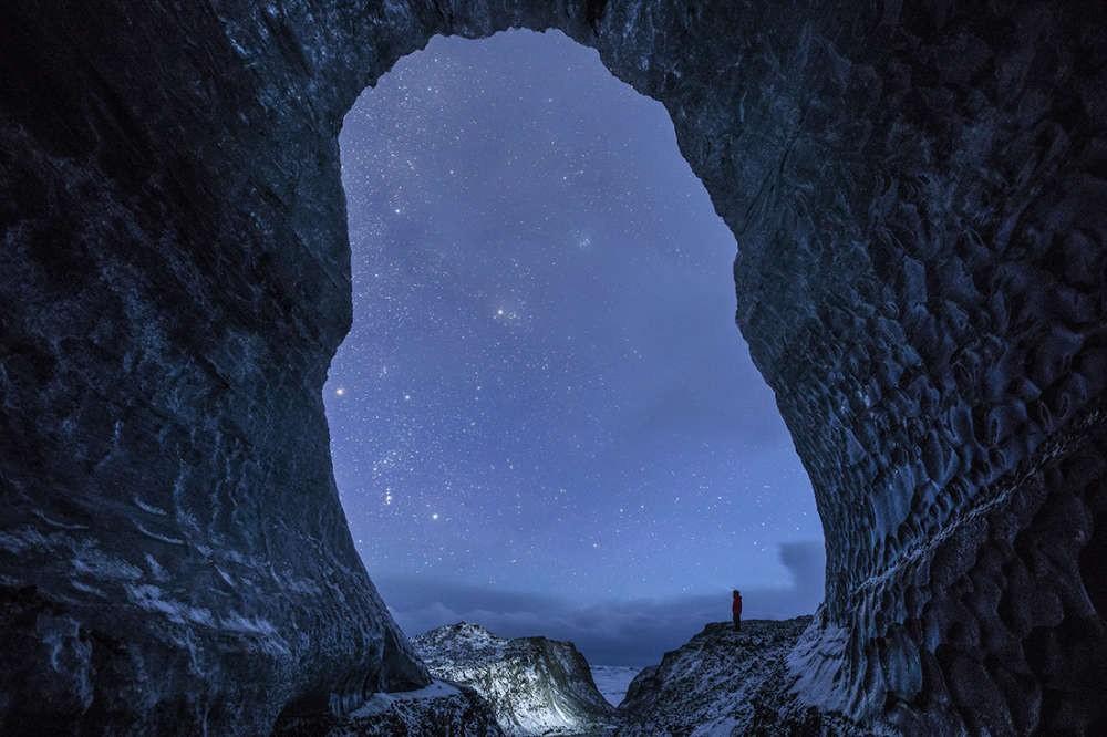 Fotografia feita na Islândia, em uma região conhecida como Breiðamerkurjökull  (Foto: Divulgação/ Dave Brasha)