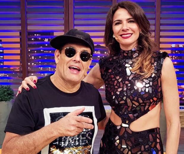 Sérgio Mallandro e Luciana Gimenez (Foto: Divulgação/RedeTV!)