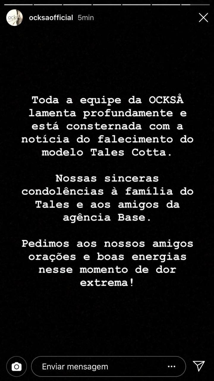 Comunicado da Ocksa (Foto: Reprodução Instagram)