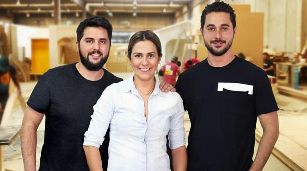 Nelson, Danielle e Caio Paulino (Foto: Divulgação)