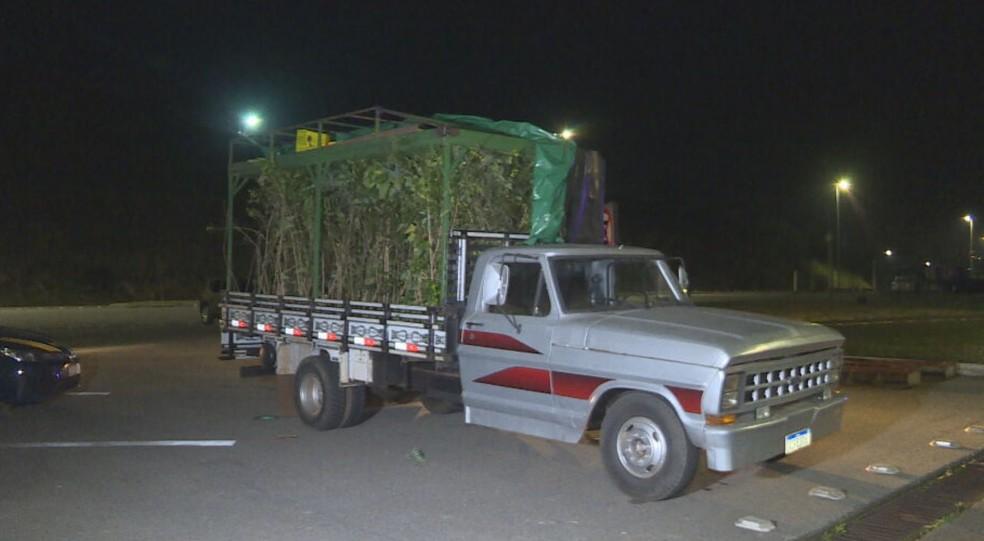 Veículo foi apreendido no posto da PRF em Betim, na Região Metropolitana — Foto: Reprodução / TV Globo