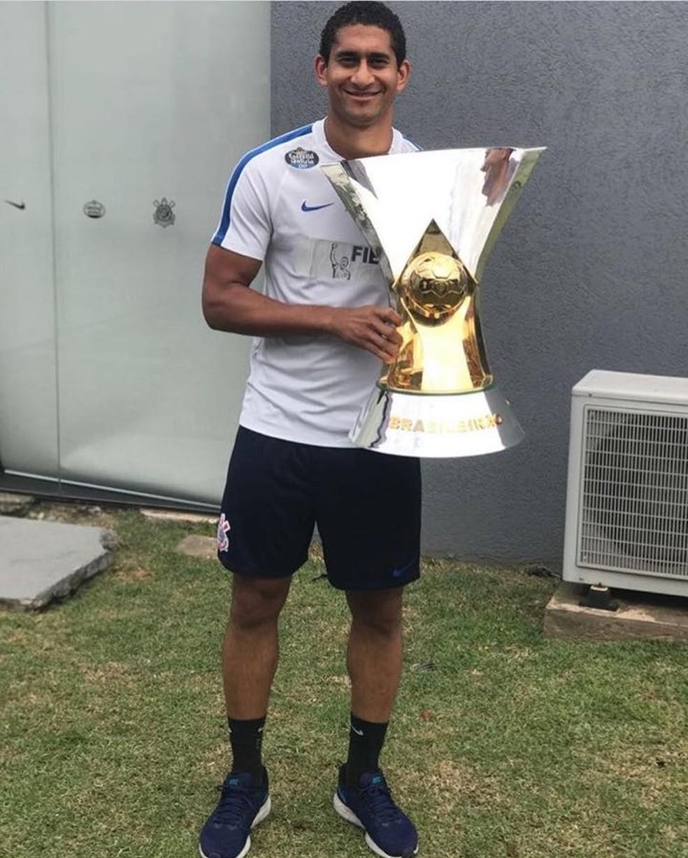 Pelo Corinthians, Pablo foi campeão Paulista e Brasileiro — Foto: Reprodução