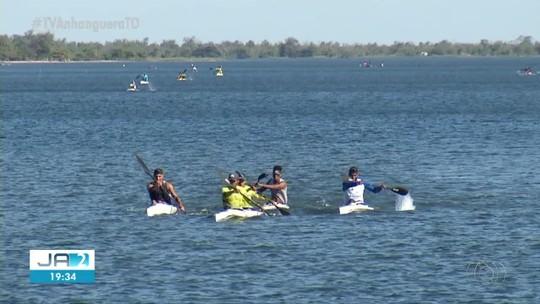 Atletas de todo o Brasil participam de campeonato de canoagem no Lago de Palmas