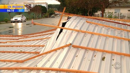 Após temporal e ventania, ainda há clientes sem luz no Rio Grande do Sul