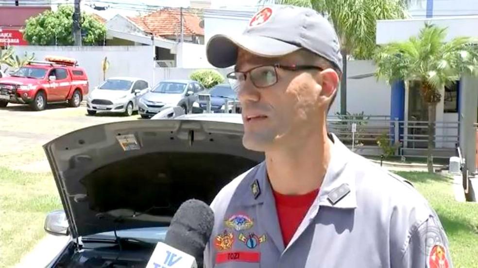 Para o tenente Vitor Tozzi, do Corpo de Bombeiros, concentração de calor pode gerar um incêndio — Foto: TV TEM/Reprodução