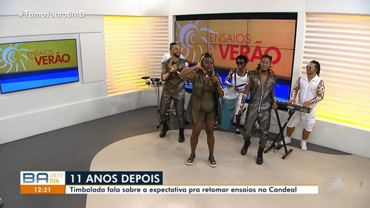 Banda Timbalada é a convidada do Bahia Meio Dia desta sexta-feira (25)