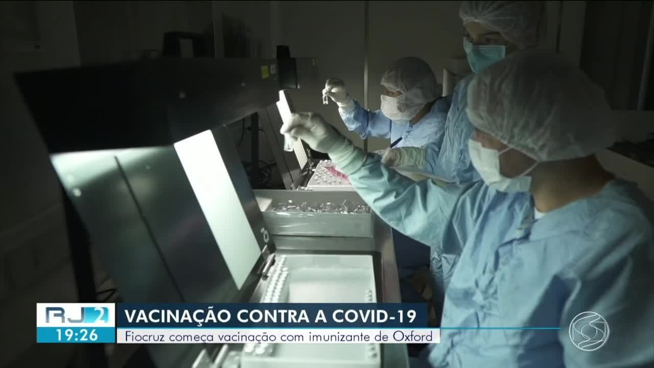 Fiocruz aplica as primeiras doses da vacina de Oxford