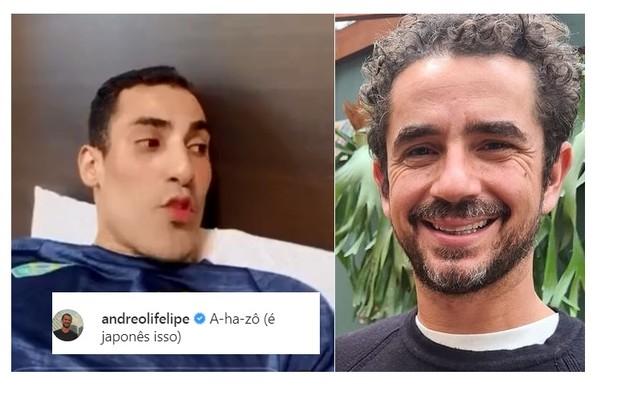 Douglas Souza ganhou elogios de Felipe Andreoli, apresentador esportivo na Globo (Foto: Reprodução)