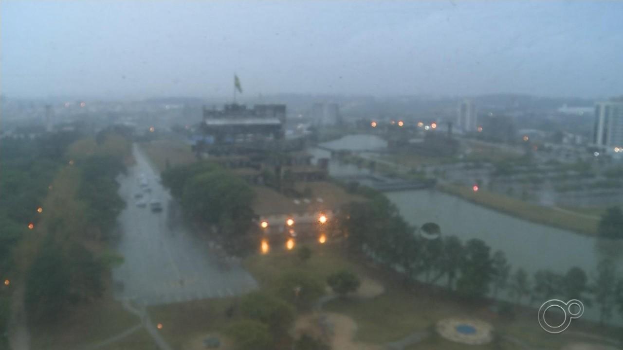 Cidades das regiões de Sorocaba, Jundiaí e Itapetininga registram chuva