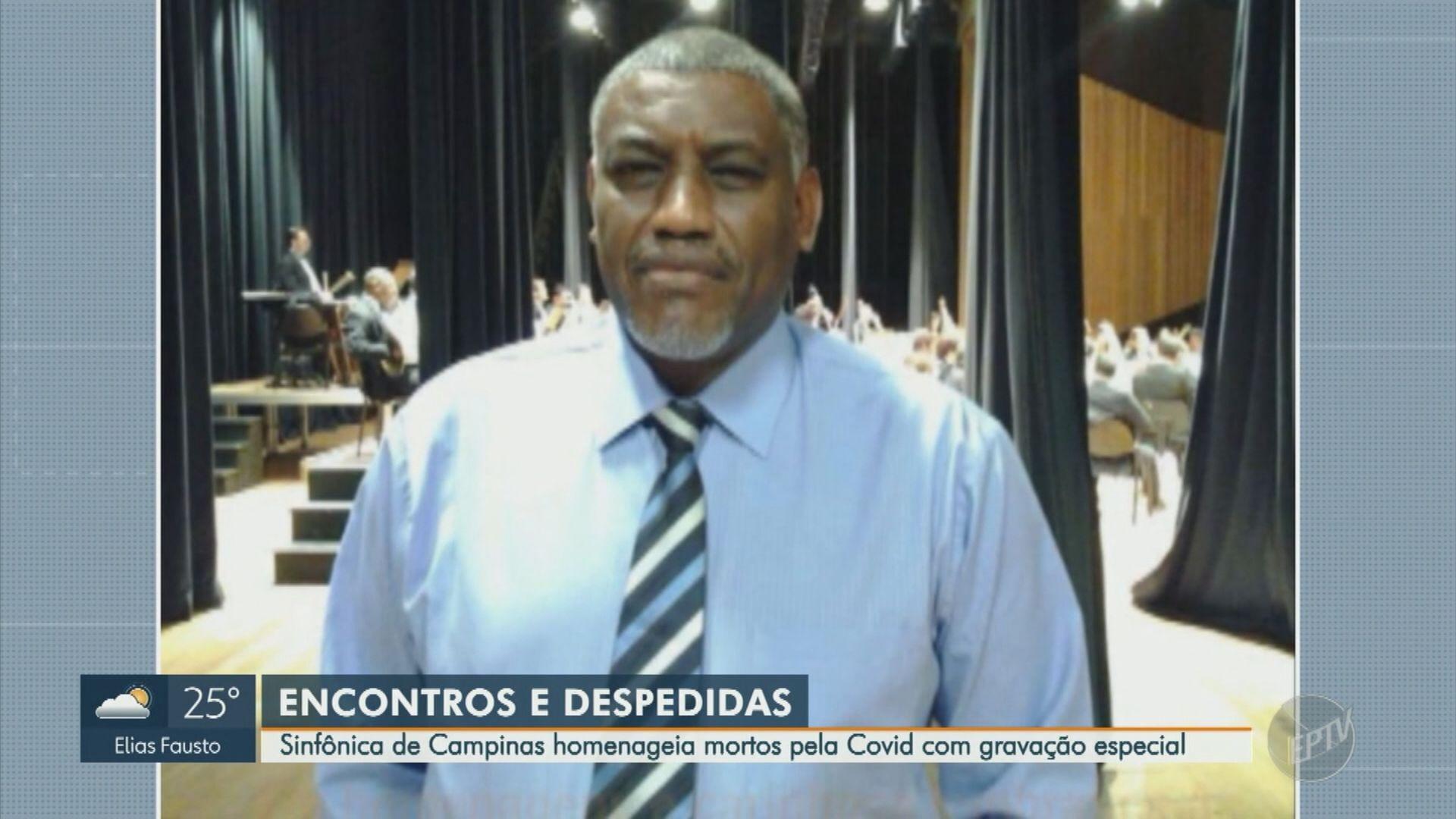 Orquestra Sinfônica de Campinas grava homenagem para chefe de montagem e outras vítimas da Covid-19; assista