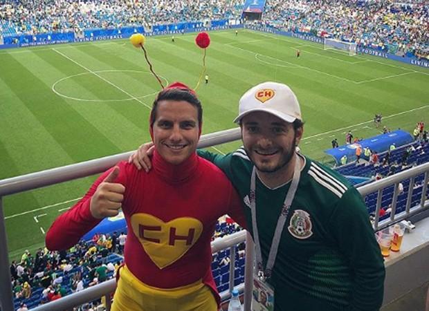 Robby Gomez, neto de Roberto Bolaños, vê jogo da Copa 2018 (Foto: Reprodução/Instagram)