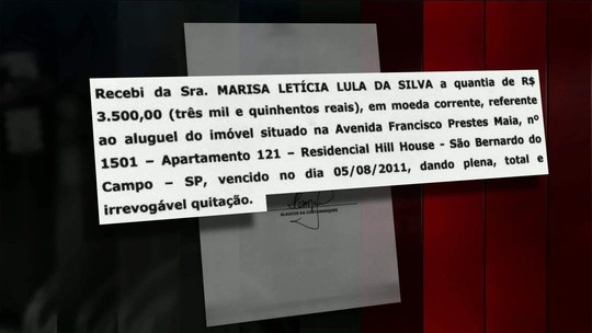 Defesa de Lula apresenta recibos de aluguel de imóvel investigado