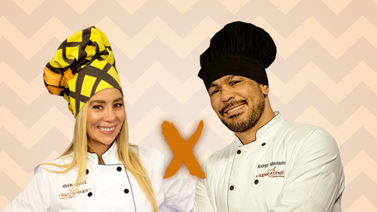 Danielle Winits e Minotauro estão na Panela de Pressão do 'Super Chef 2016'