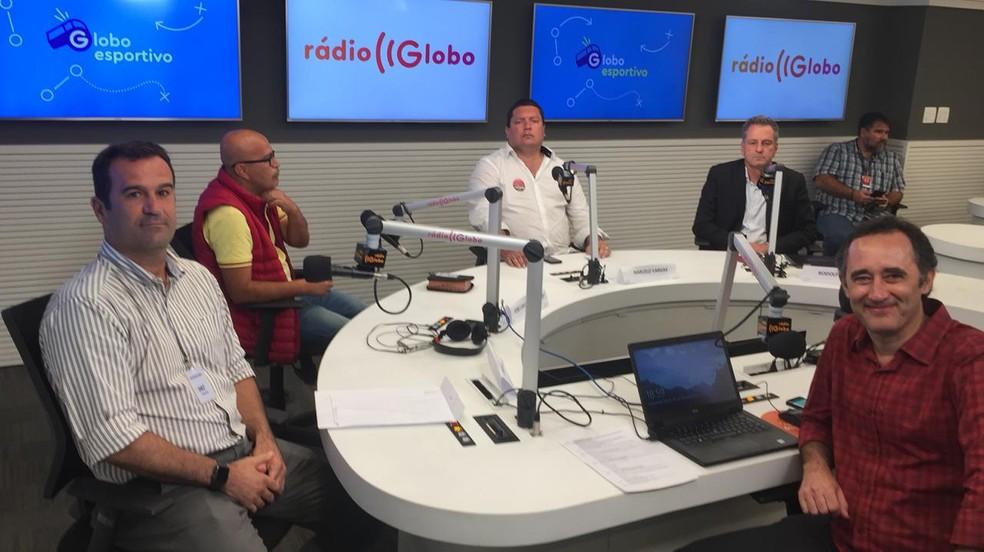 Candidatos Ricardo Lomba e Rodolfo Landim querem Renato Gaúcho em 2019 ? Foto: Raphael Zarko