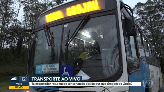 A má conservação dos ônibus que chegam ao Grajaú