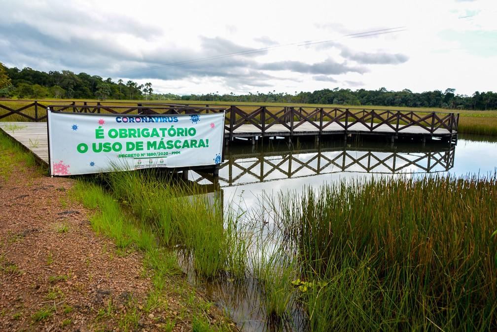 Mirante no Bioparque da Amazônia — Foto: PMM/Divulgação