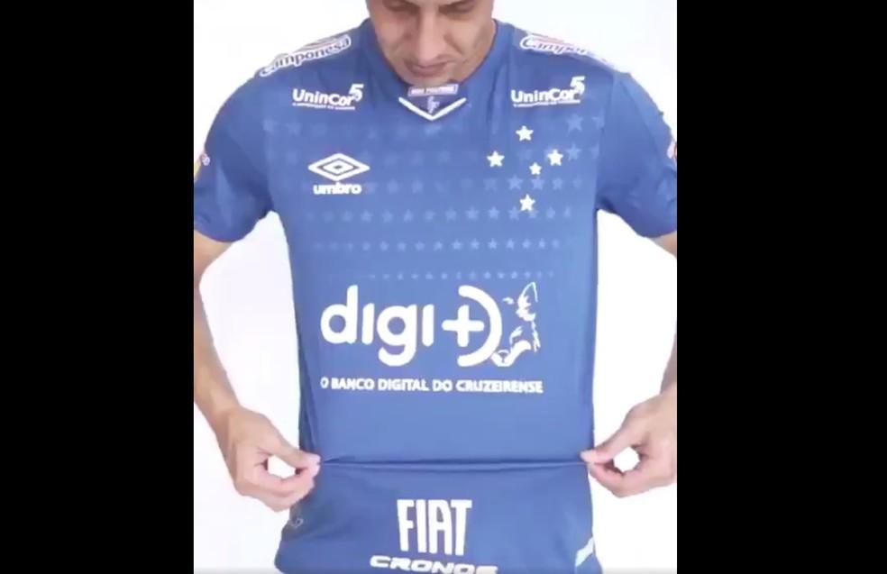 688cb17250597 ... Anúncio novo patrocinador do Cruzeiro; Digi+ — Foto: Reprodução