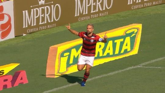 Diego se iguala a Ibson e entra no top 10 de artilheiros do Flamengo no século; Renato Abreu lidera