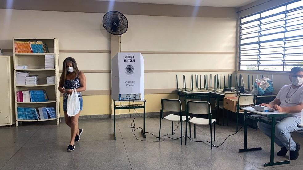 Eleições suplementares foram realizadas Anhembi neste domingo — Foto: Gabriela Prado/TV TEM