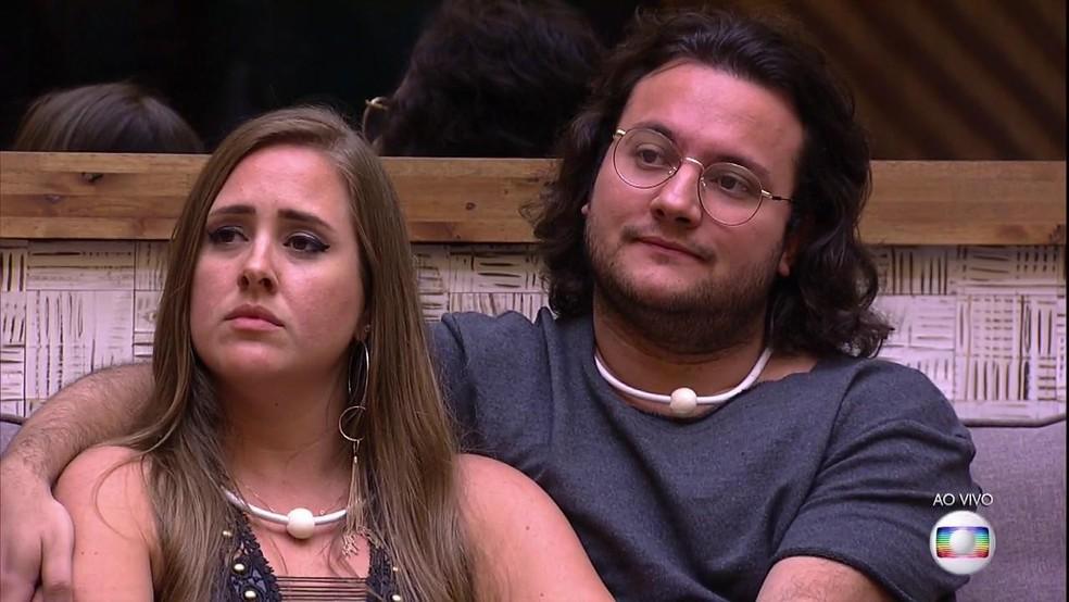 Patrícia e Diego no 'BBB18' (Foto: Reprodução/TV Globo)