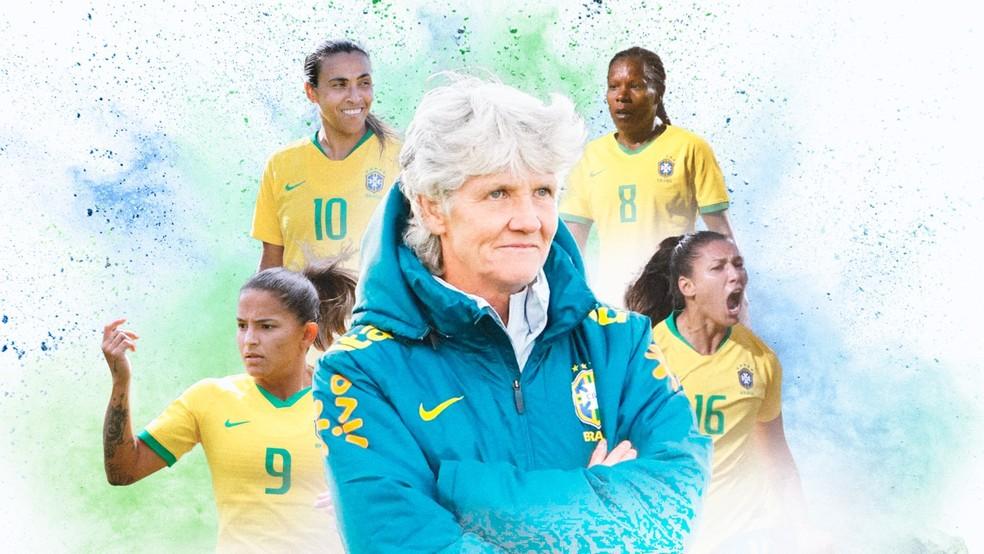 Carrossel Raio-X Seleção Feminina — Foto: Arte: Infoesporte/ge.globo