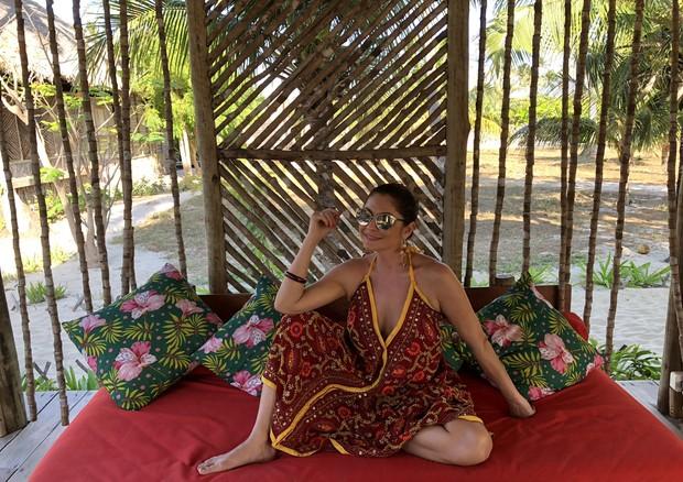 Camilla Guebur no Rancho do Peixe (Foto: arquivo pessoal)