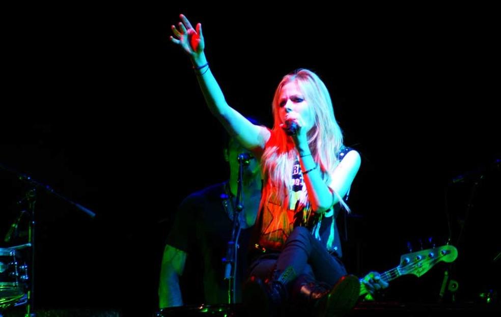 Avril Lavigne encerra turnê no Brasil — Foto: Nina Quintana / Divulgação