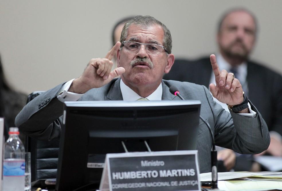 O corregedor do Conselho Nacional de Justiça, ministro Humberto Martins — Foto: Gil Ferreira/Agência CNJ/Divulgação