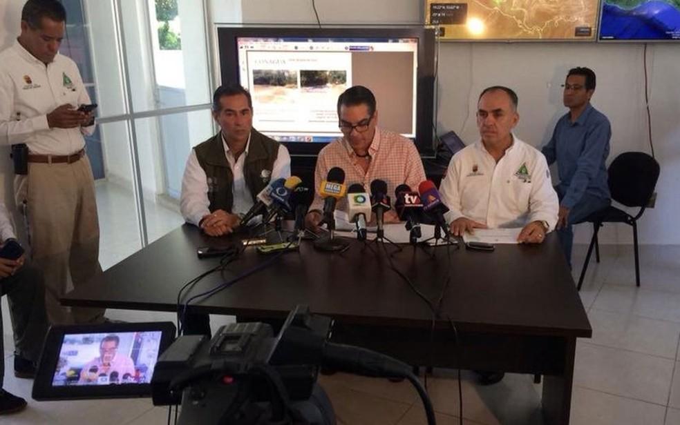 Autoridades federais e estatais explicaram os fatores por trás da falta de água nas quedas de Água Azul  (Foto: PC Chiapas)