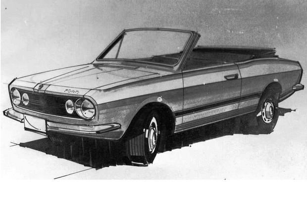Ford Corcel conversível chegou a ser desenhado internamente (Foto: Reprodução)