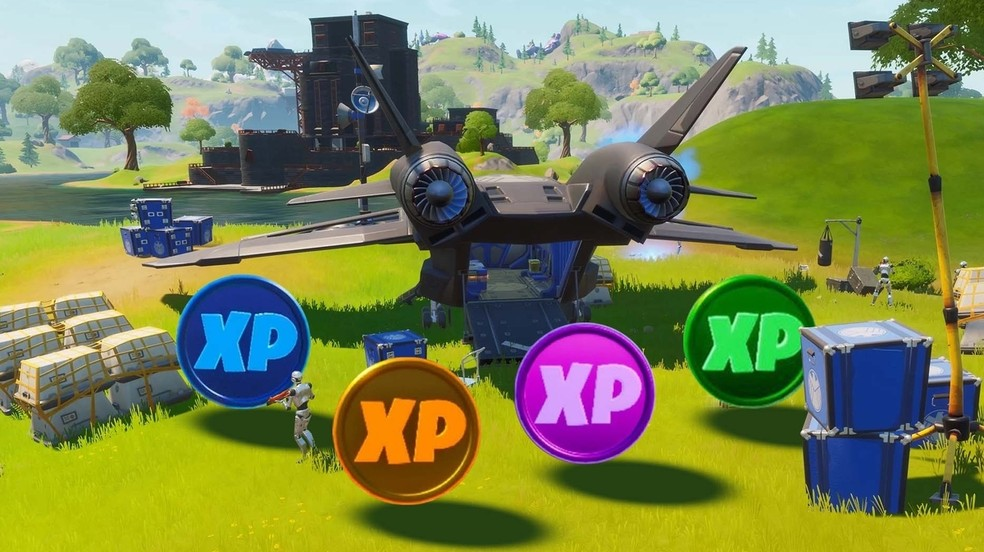 XP coins appear in four types of rarities in Fortnite. (Image: Epic Games)