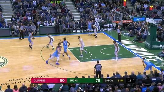 Melhores momentos: Los Angeles Clippers 127 x 120 Milwaukee Bucks pela NBA