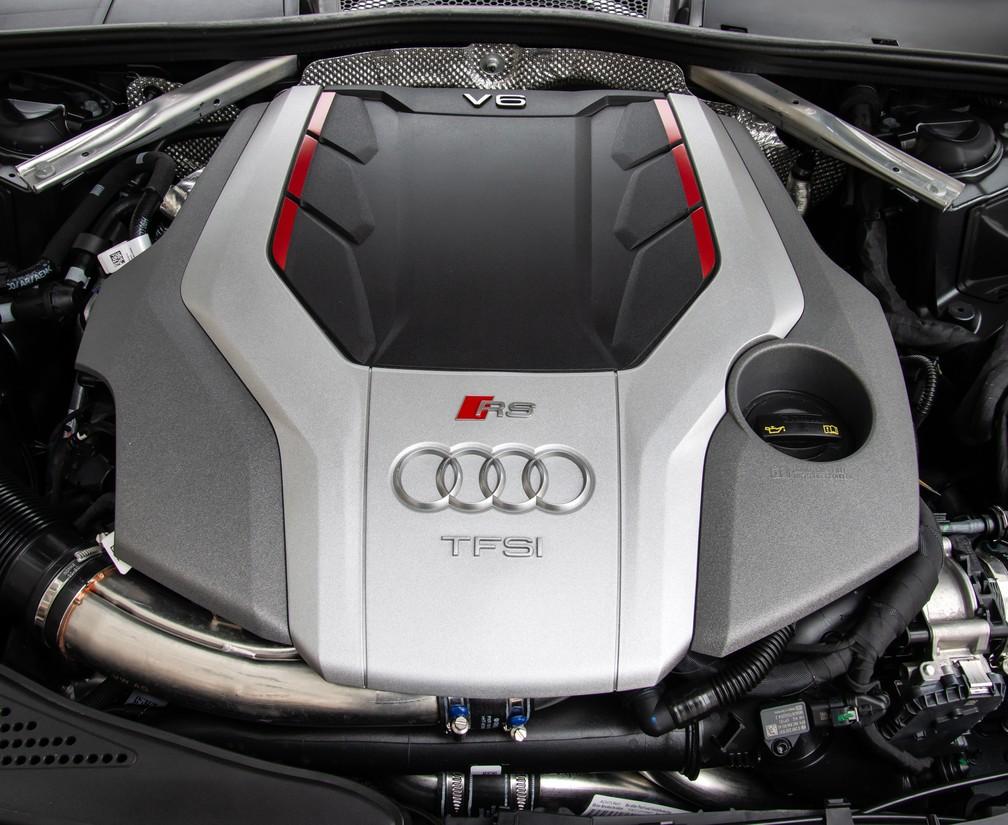 Motor V6 de 450 cv do Audi RS 4 — Foto: Divulgação