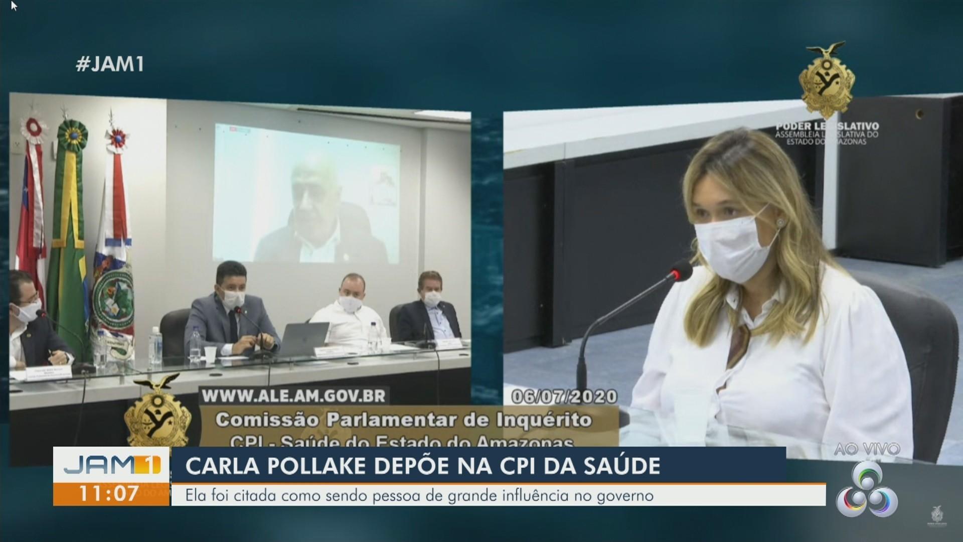 VÍDEOS: Em Manaus, Carla Pollake depõe na CPI da Saúde; Veja destaques do JAM 1