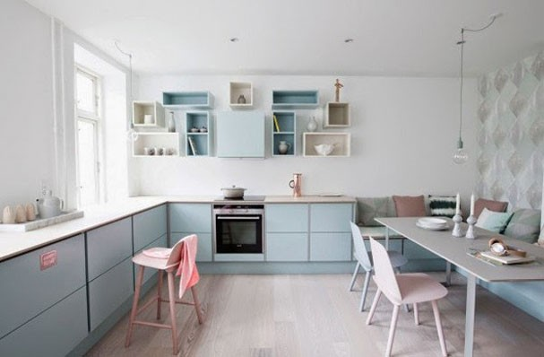 Pink kitchens (Photo: Disclosure)