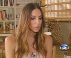Léa T. em entrevista ao 'Fantástico' | Reprodução