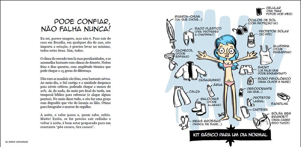 Ilustração satiriza o clima brasiliense — Foto: Daniel Zukko/Divulgação