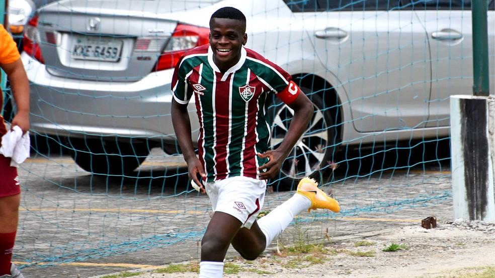 Metinho, volante do Fluminense Sub-17 — Foto: Mailson Santana / FFC