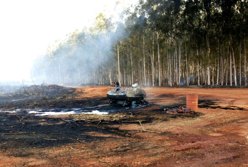Área ficou destruída por incêndio (Foto: Arquivo Pessoal)