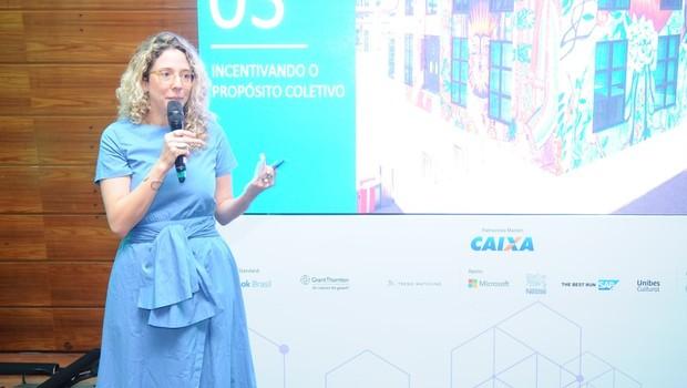 Iza Dezon, especialista em tendências da PerclerParis, durante FICE 2018  (Foto:  Editora Globo/Rafael Jota))