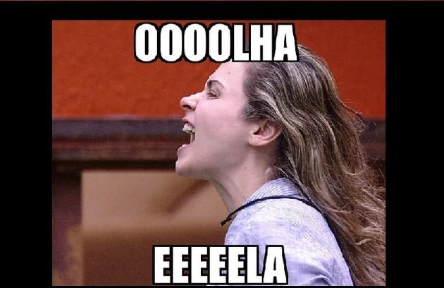 'Olha ela', o bordão da Ana Paula, do 'BBB16', ganhou a web e caiu na boca do povo (Foto: Reprodução)