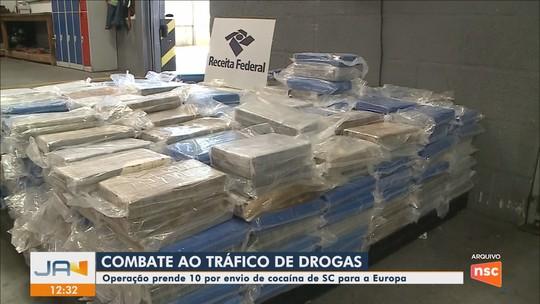 PF deflagra operação contra o tráfico de drogas internacional em portos de SC