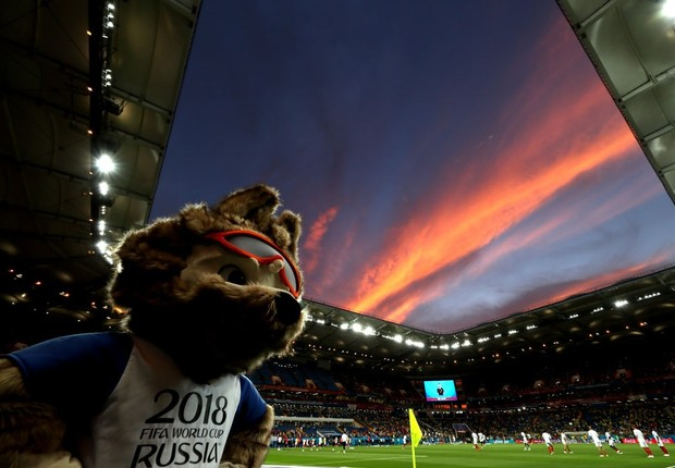 Zabivaka, o mascote da Copa do Mundo 2018.  (Foto: Kevin C. Cox/Getty Images)