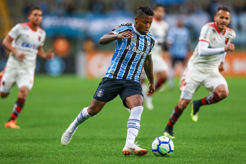 Marinho contra o Flamengo (Foto: Lucas Uebel / Grêmio, DVG)