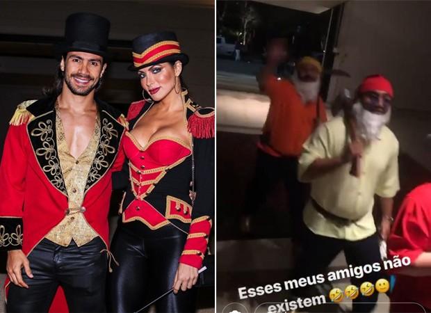 Convidados são criativos para a festa de Graciele Lacerda (Foto: Manuela Scarpa / Brazil News e Reprodução / Instagram)